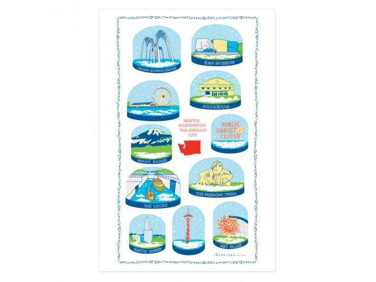 Snow Globe Tea Towels by Vestiges - 7