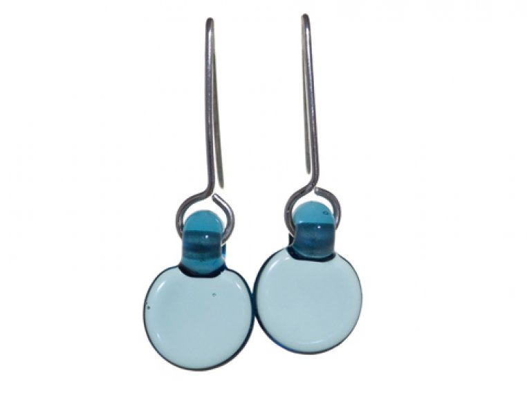 Set of Droplet 5 Disc & Earrings by FormFire Glassworks - 4