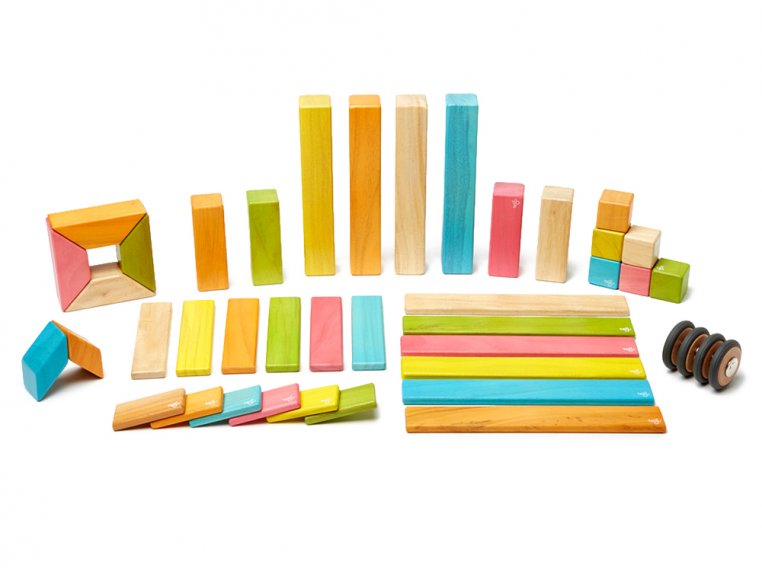 42 Piece Magnetic Wooden Block Set by Tegu - 7