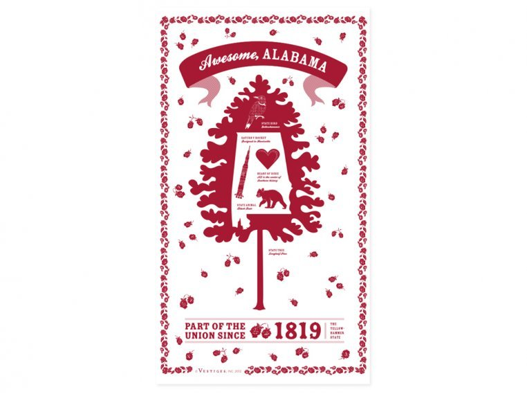 State Tea Towels by Vestiges - 2