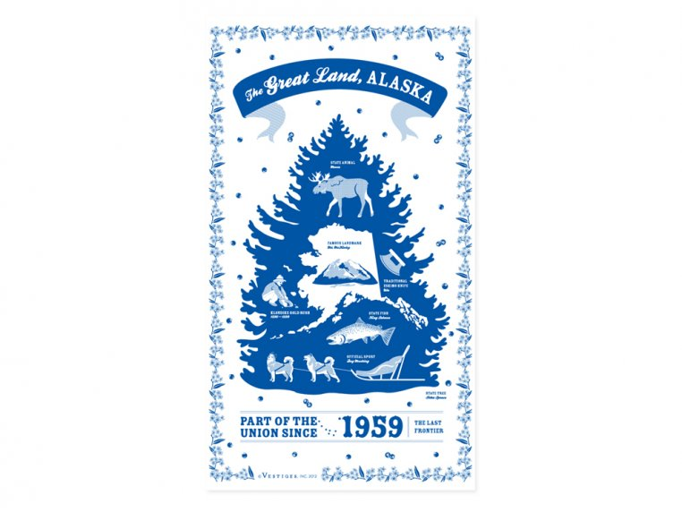 State Tea Towels by Vestiges - 3