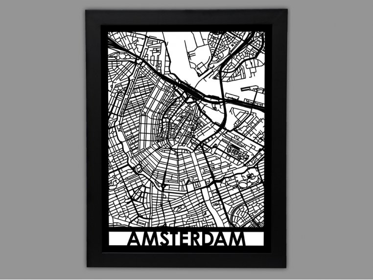 Laser Cut Worldwide City Map by Cut Maps - 19