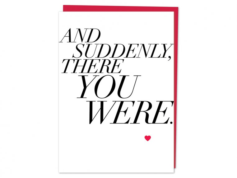 """And Suddenly"" Greeting Card by Design With Heart - 3"