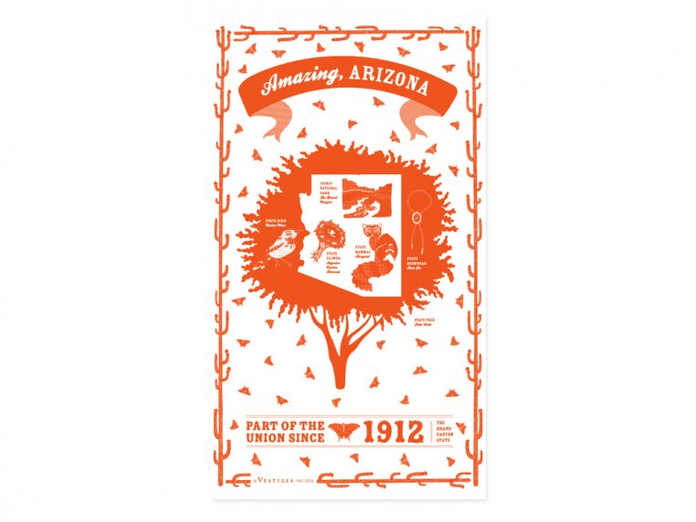 State Tea Towels by Vestiges - 4