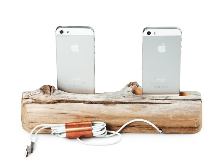 2 Phone Driftwood Charging Dock by Docksmith - 5