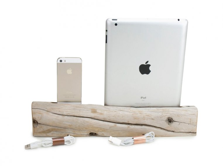 Driftwood Phone and Tablet Dock by Docksmith - 4