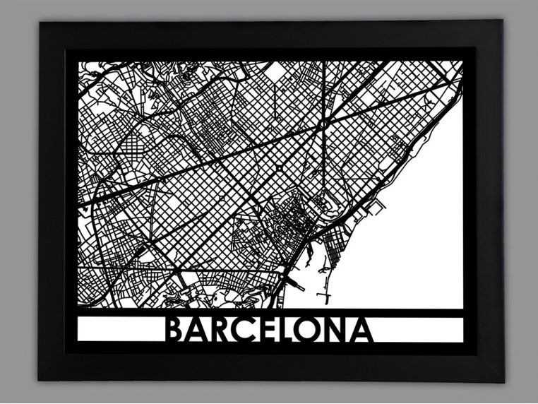 Laser Cut Worldwide City Map by Cut Maps - 41