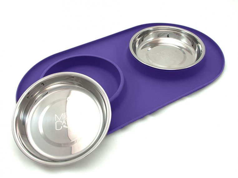 Cat/Tea Cup Dog Double Feeder Bowl by Messy Mutts - 6