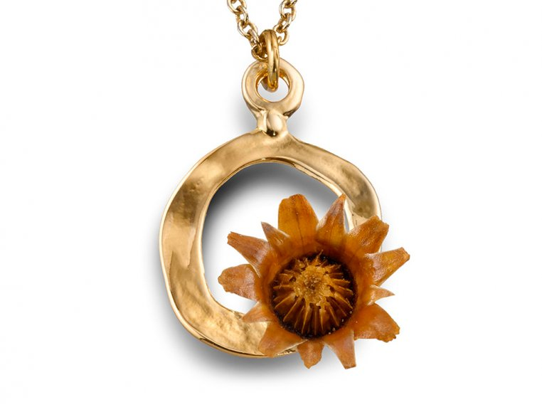 Centered Necklace - Gold by The Blessing Flower - 1