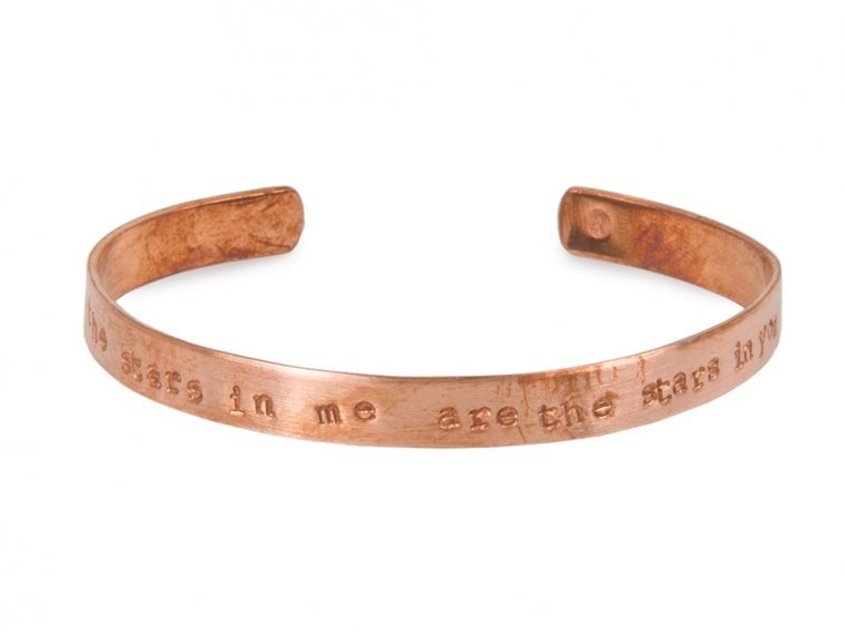 Thin Copper Quote Cuff by Alloy Jewelry - 9