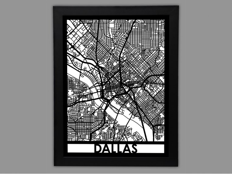 Laser Cut Worldwide City Map by Cut Maps - 38
