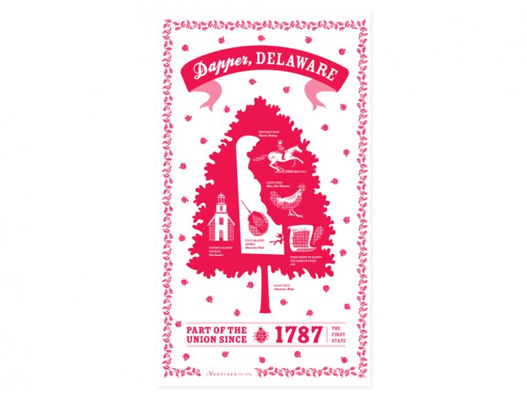State Tea Towels by Vestiges - 9