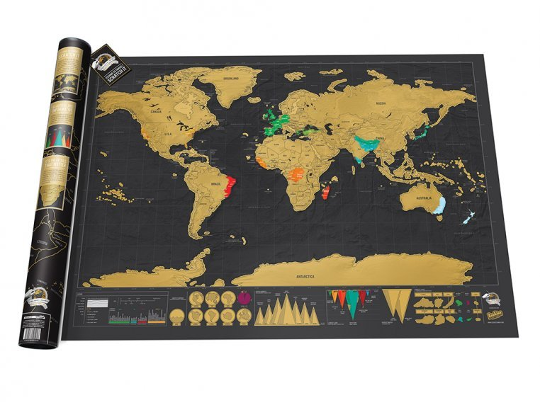 Scratch Map - Deluxe Edition by Luckies of London - 4