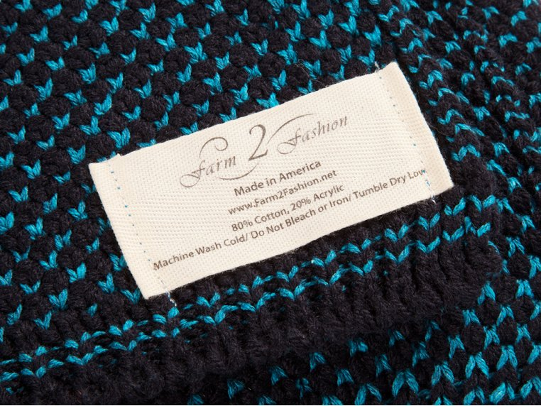 Two Color Seedstitch Throws by Farm2Fashion - 3
