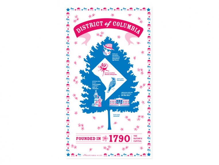 State Tea Towels by Vestiges - 52