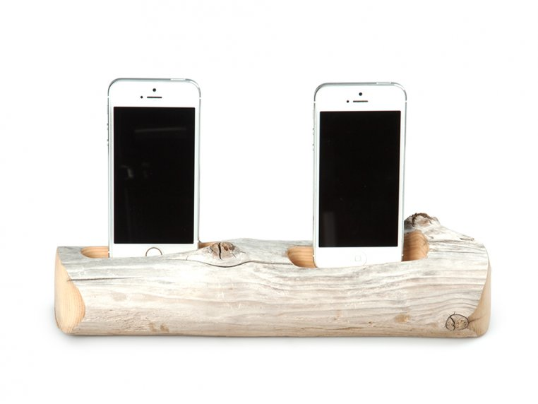 2 Phone Driftwood Charging Dock by Docksmith - 4