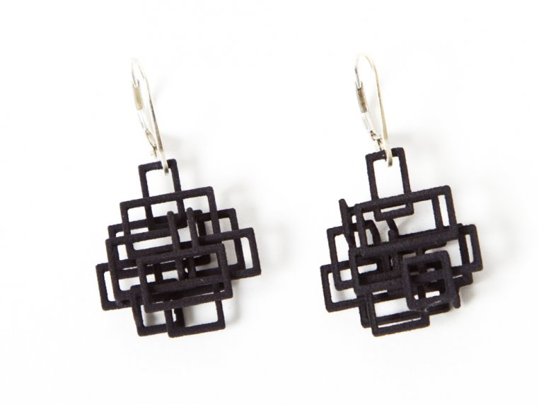 Circuit Dangle Earrings by Melissa Borrell - 1