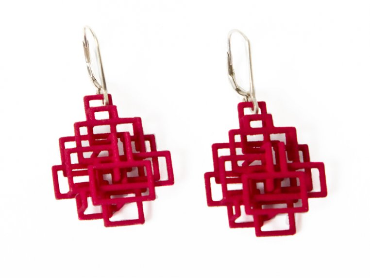 Circuit Dangle Earrings by Melissa Borrell - 2
