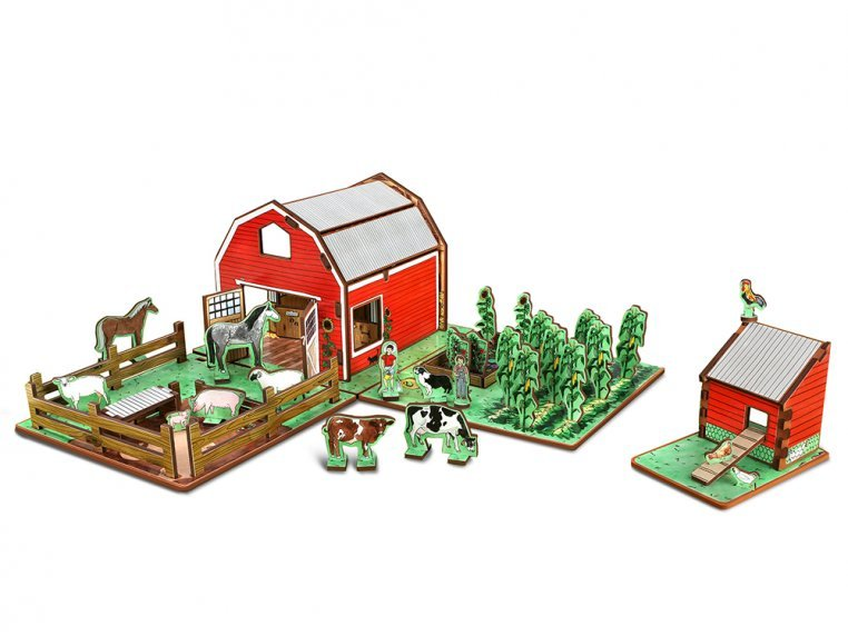 Family Farm Playset & Storybook by Storytime Toys - 7