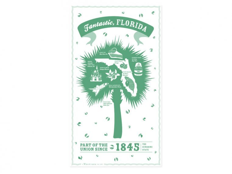 State Tea Towels by Vestiges - 10