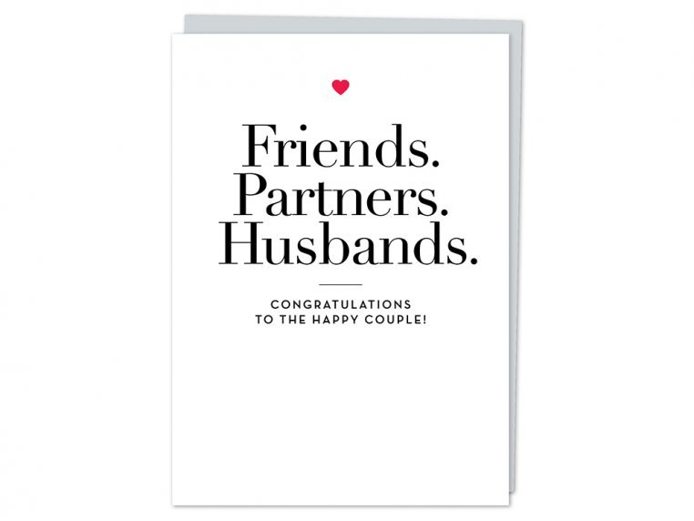"""Friends, Partners, Husbands"" Card by Design With Heart - 4"
