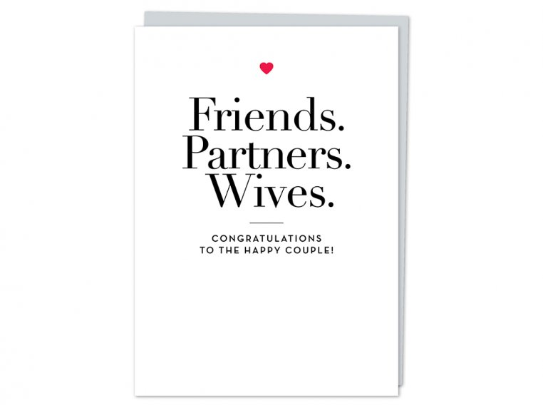 """Friends, Partners, Wives"" Card by Design With Heart - 4"