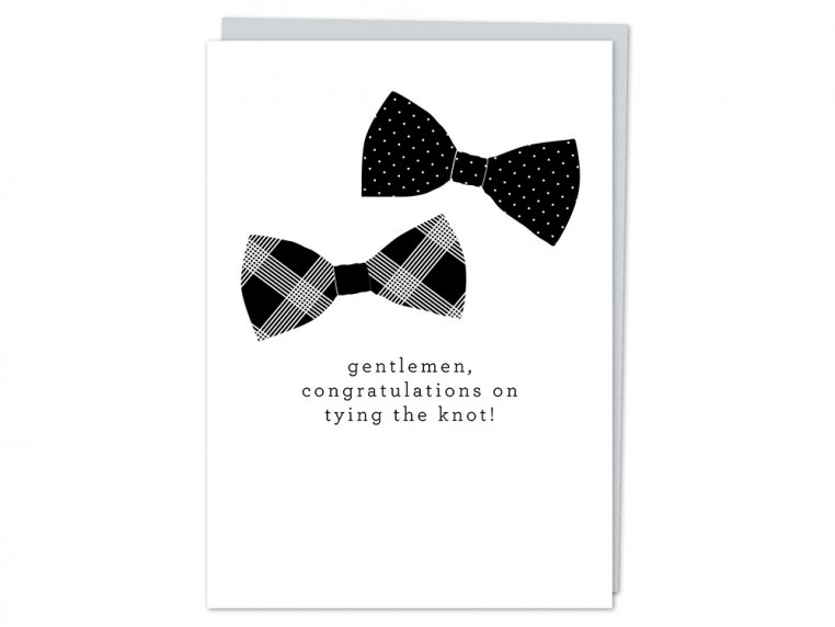 """""""Gentlemen, Congrats"""" Greeting Card by Design With Heart - 4"""