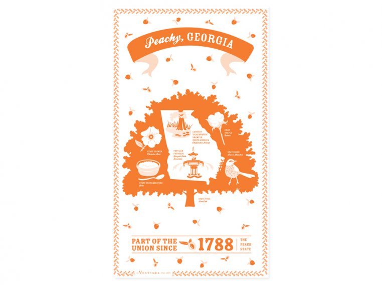 State Tea Towels by Vestiges - 11
