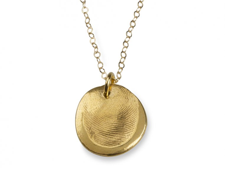 Fingerprint Pendant Necklace Kit by Precious Metal Prints - 9