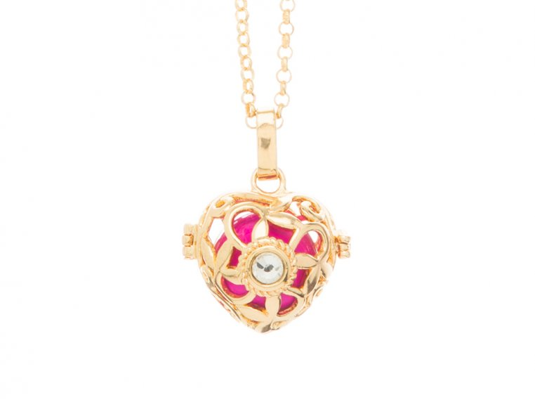 Heart Crystal Angel Locket by Yourself Expression - 6