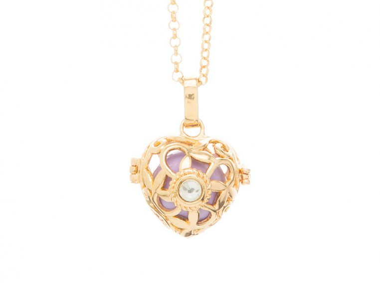 Heart Crystal Angel Locket by Yourself Expression - 14