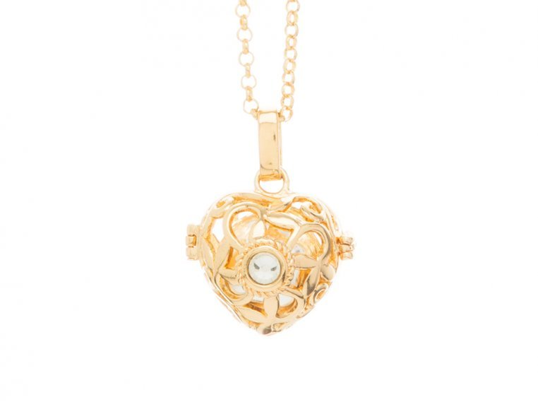 Heart Crystal Angel Locket by Yourself Expression - 4