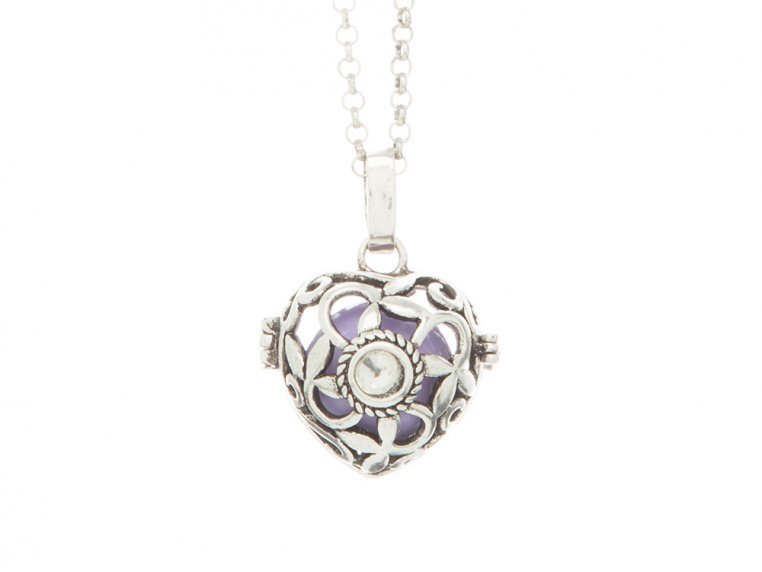 Heart Crystal Angel Locket by Yourself Expression - 15