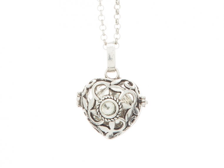 Heart Crystal Angel Locket by Yourself Expression - 5