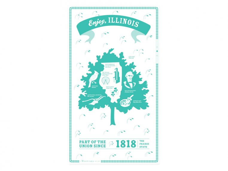 State Tea Towels by Vestiges - 14