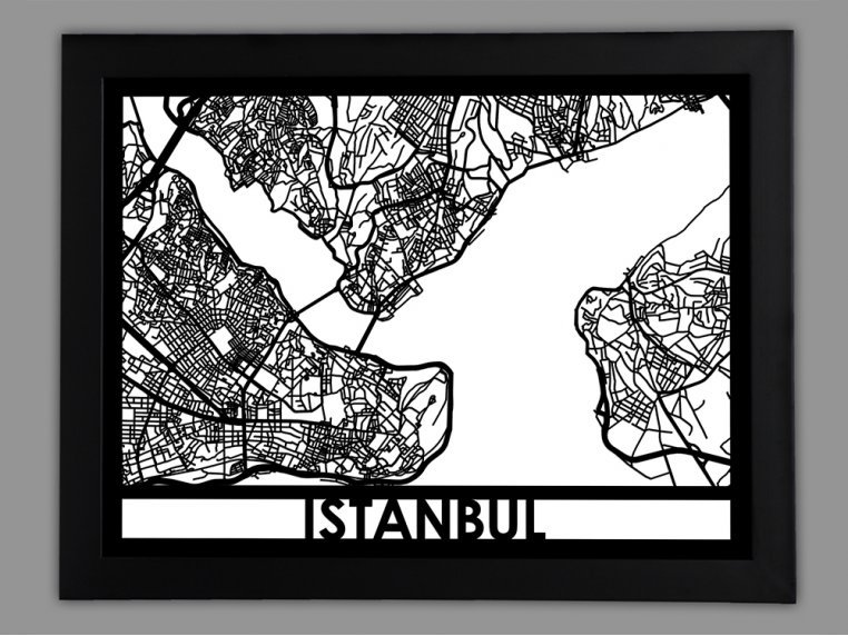 Laser Cut Worldwide City Map by Cut Maps - 42