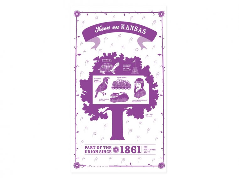 State Tea Towels by Vestiges - 17