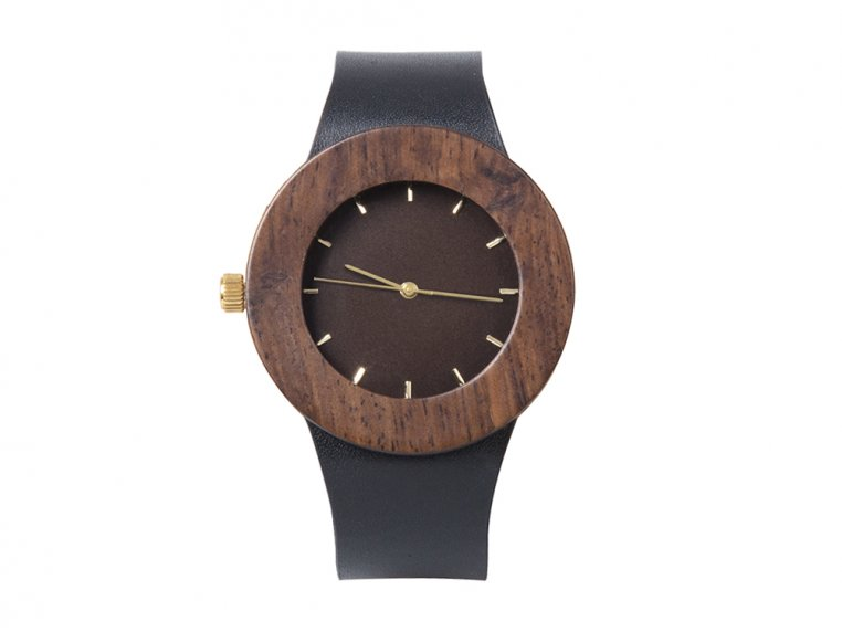 Leather & Blackwood Watch by Analog Watch Co. - 5