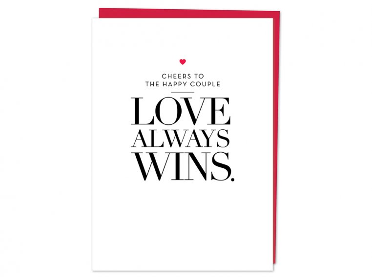 Love Always Wins Greeting Card by Design With Heart - 4