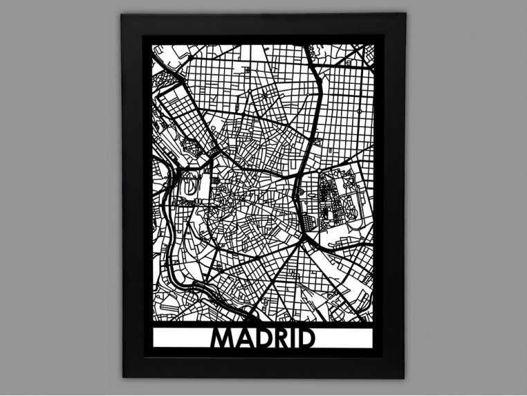 Laser Cut Worldwide City Map by Cut Maps - 18