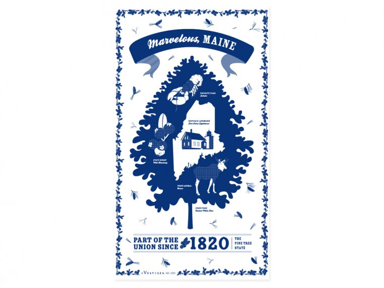 State Tea Towels by Vestiges - 20