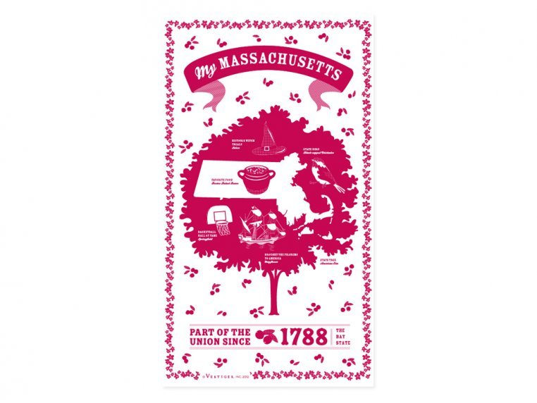 State Tea Towels by Vestiges - 22