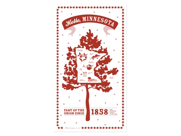 State Tea Towels by Vestiges - 24