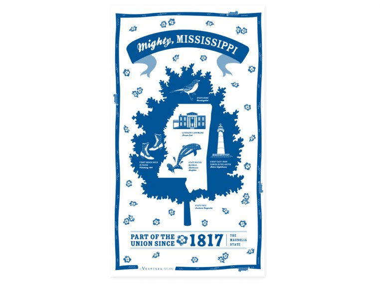 State Tea Towels by Vestiges - 25