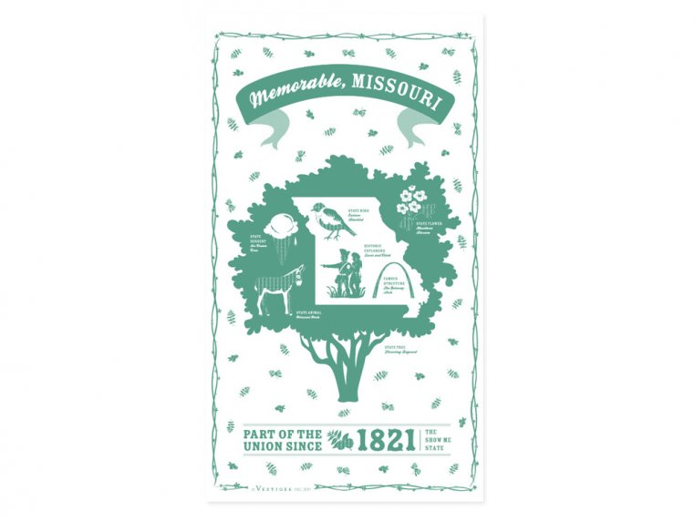 State Tea Towels by Vestiges - 26