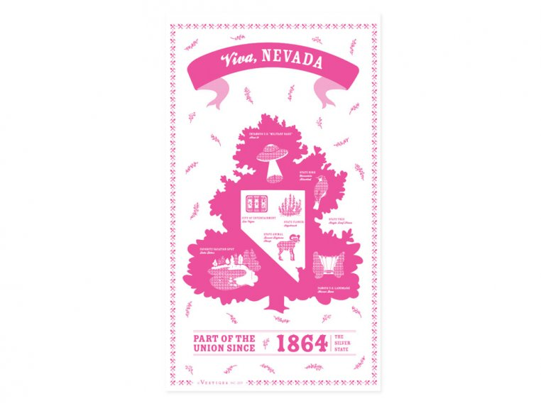 State Tea Towels by Vestiges - 29