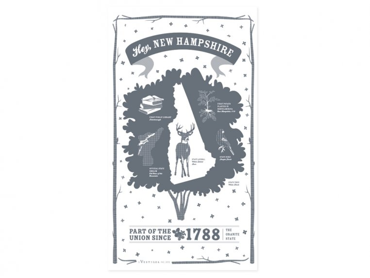 State Tea Towels by Vestiges - 30