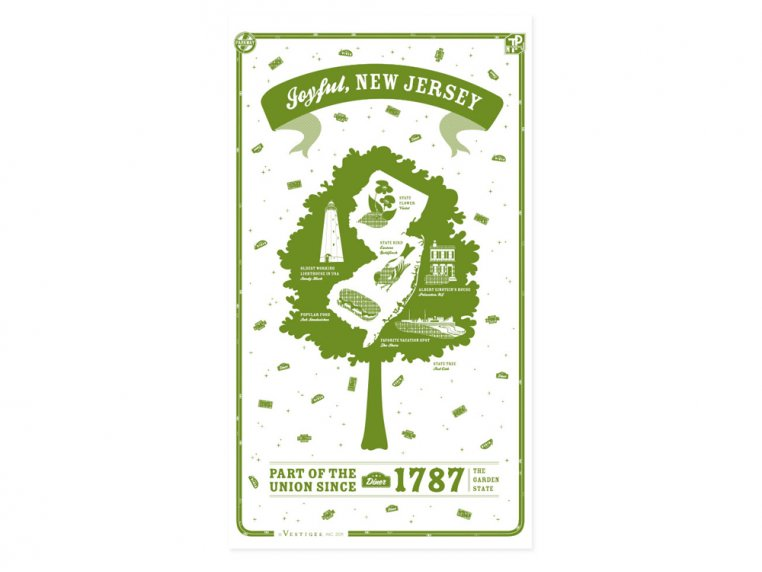 State Tea Towels by Vestiges - 31
