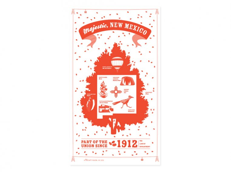 State Tea Towels by Vestiges - 32
