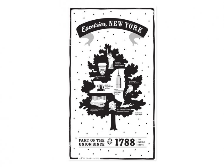 State Tea Towels by Vestiges - 33